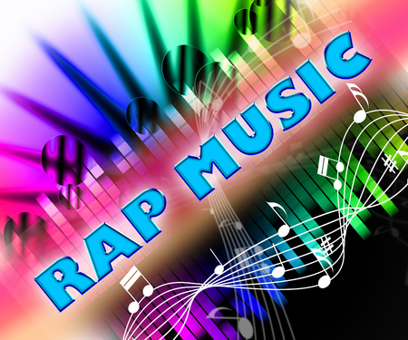 rap music: Rap Music Meaning Sound Tracks And Spoken Stock Photo