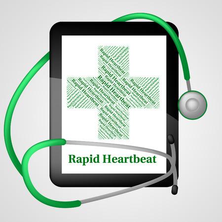 tachycardia: Rapid Heartbeat Meaning High Speed And Tachycardia