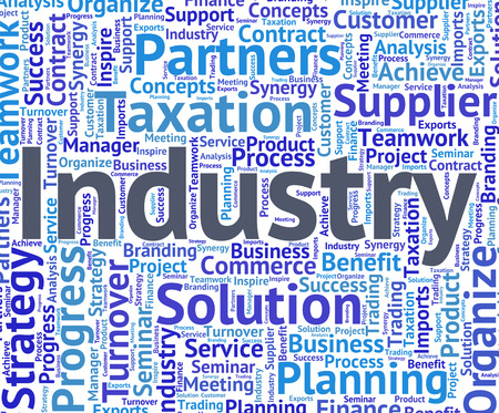 industrialized: Industry Word Representing Industrial Industrialized And Wordclouds Stock Photo
