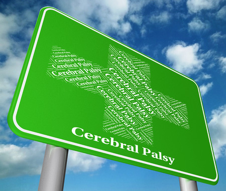 Cerebral Palsy Representing Brain Damage And Malady