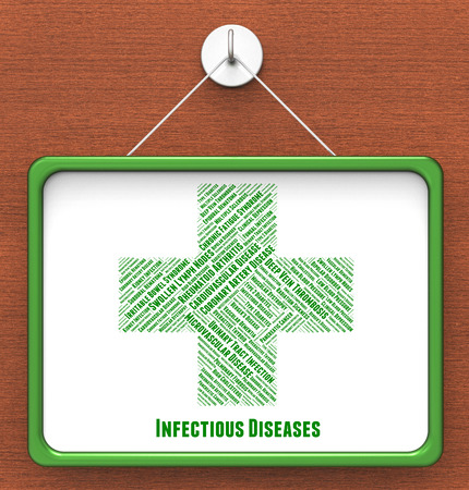 afflictions: Infectious Diseases Meaning Ill Health And Afflictions Stock Photo