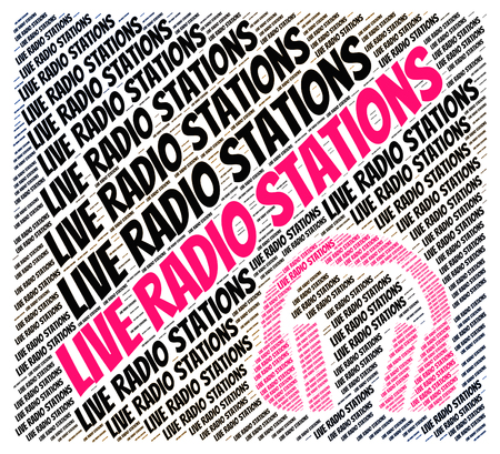 melodias: Live Radio Stations Representing Sound Track And Melodies Foto de archivo