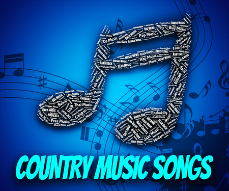 country music: Country Music Songs Darstellen Tonspuren Und Tune
