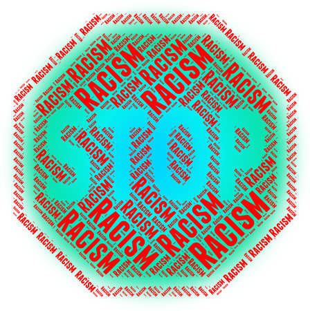anti racist: Stop Racism Showing Anti Semitism And Caution