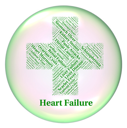 infections: Heart Failure Meaning Ill Health And Infections Stock Photo