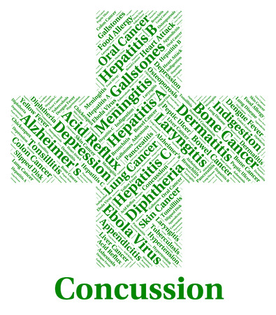 poor health: Concussion Illness Indicating Poor Health And Disability Stock Photo
