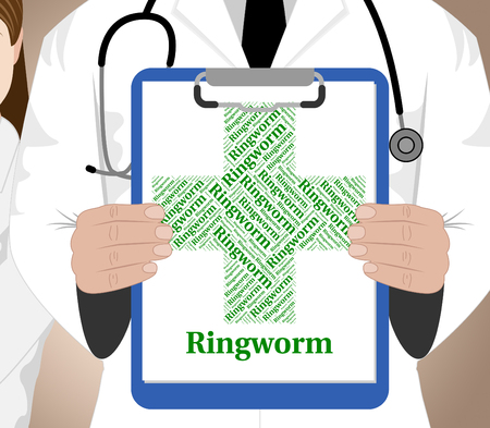 diseased: Ringworm Word Indicating Poor Health And Diseased