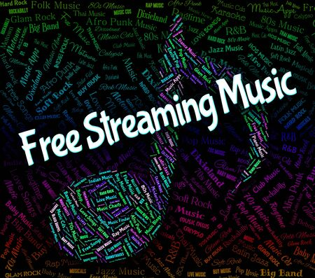 freebie: Free Streaming Music Indicating No Cost And Singing