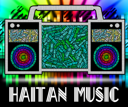 haitian: Haitian Music Meaning Sound Track And Song Stock Photo