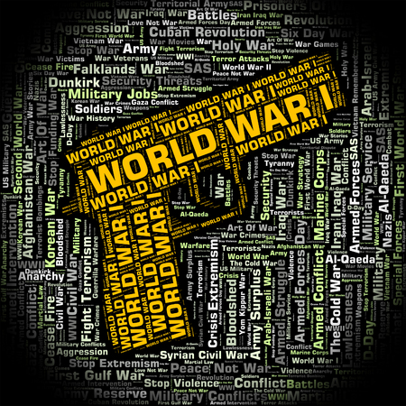 globalisation: World War I Showing Globalisation Warfare And Text