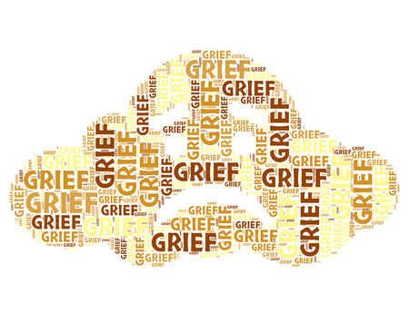 dejection: Grief Word Indicating Broken Hearted And Words