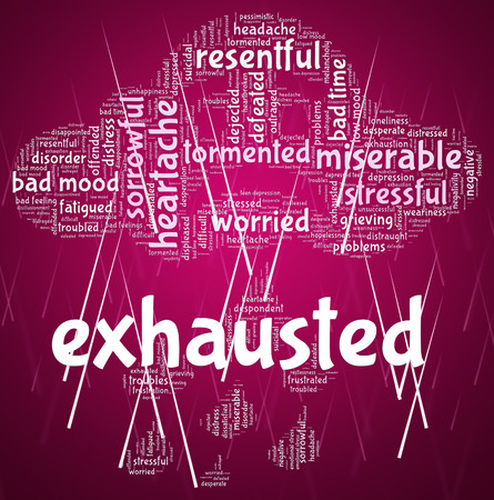 worn: Exhausted Word Meaning Worn Out And Shattered