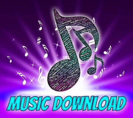 tunes: Music Download Representing Sound Track And Tunes Stock Photo