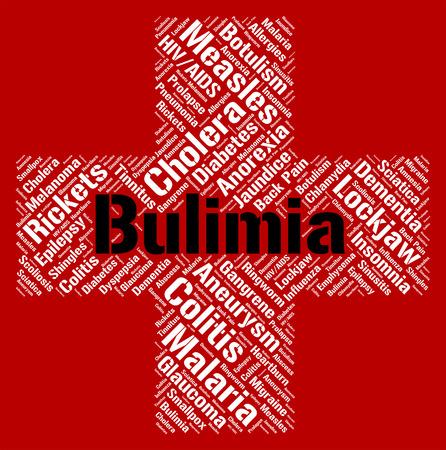 binge: Bulimia Word Indicating Binge Vomit Syndrome And Compulsive Eating