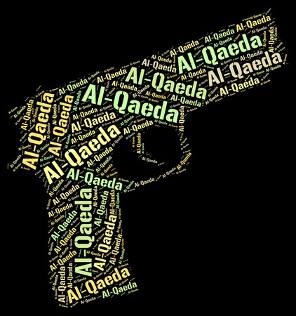 subversive: Al-Qaeda Word Showing Freedom Fighters And Incendiary