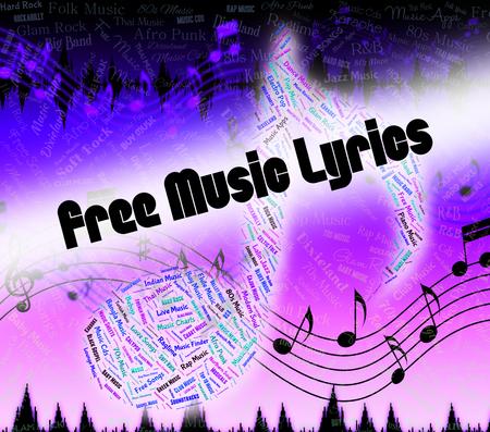 music lyrics: Letras de Canciones Música Representación Sin cargo y realizar un seguimiento