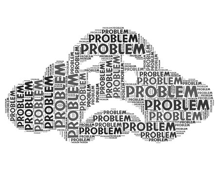 drawback: Problem Word Showing Plight Dilemma And Drawback Stock Photo