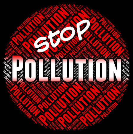 Stop Pollution Indicating Air Polution And Filth Stock Photo