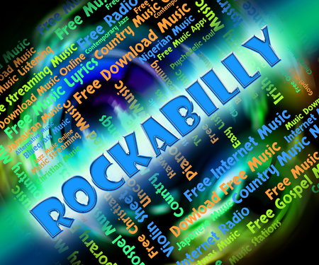 melodies: Rockabilly Music Indicating Sound Tracks And Tune Stock Photo