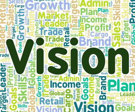 vision: Vision Word Representing Predictions Text And Goals Stock Photo