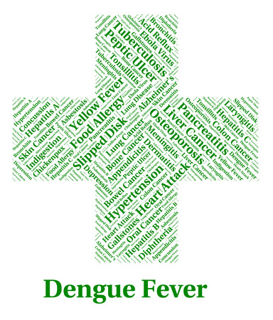 malady: Dengue Fever Showing Burning Up And Malady