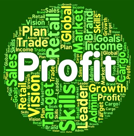 earns: Profit Word Showing Investment Text And Earning