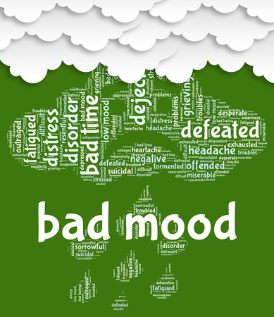 sadly: Bad Mood Meaning Low Spirited And Sadly