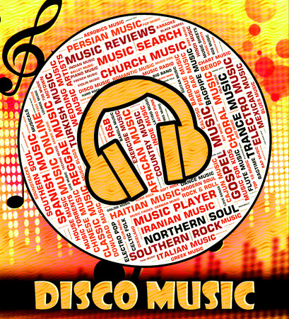 melodies: Disco Music Indicating Sound Track And Celebration
