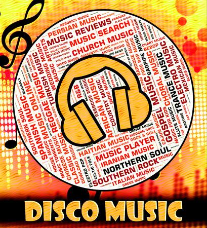 harmonies: Disco Music Indicating Sound Track And Celebration