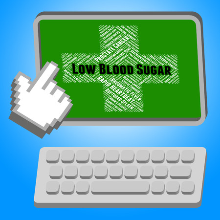 poor health: Low Blood Sugar Representing Poor Health And Disability