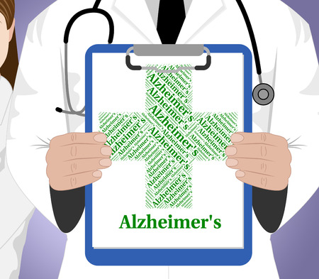 alzheimers: Alzheimers Disease Representing Mental Deterioration And Diseased