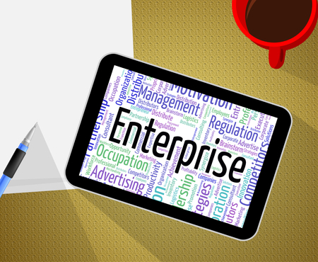 venture: Enterprise Word Indicating Venture Operation And Firm