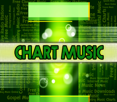 ten best: Chart Music Representing Top Ten And Topping