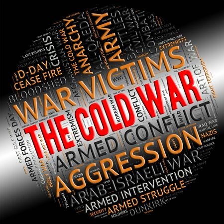 clash: The Cold War Showing East West And Clash