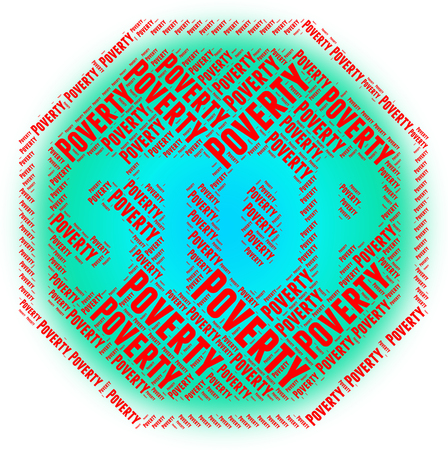 jobless: Stop Poverty Representing Warning Sign And Stops