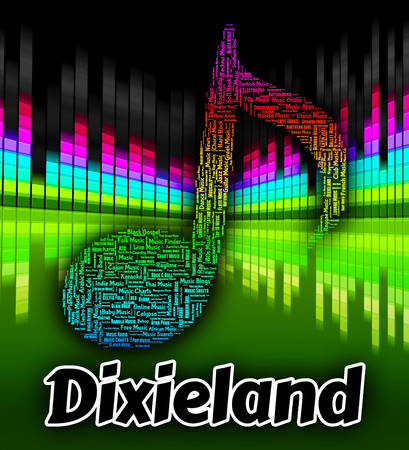melodies: Dixieland Music Representing New Orleans Jazz And Early Jazz Stock Photo