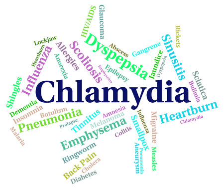 sexually transmitted disease: Chlamydia Word Meaning Sexually Transmitted Disease And Poor Health