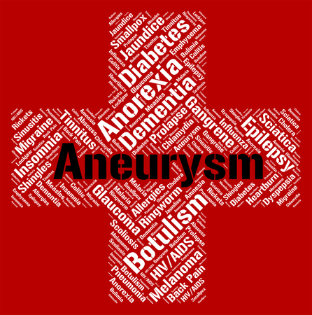 aneurism: Aneurysm Word Representing Artery Wall And Disability