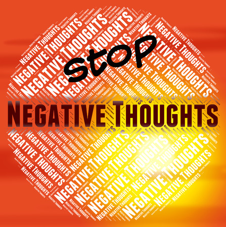 Stop Negative Thoughts Showing Opinions Refusing And Gloomy