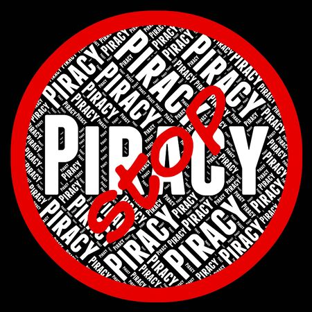 Stop Piracy Indicating Copy Right And Ownership