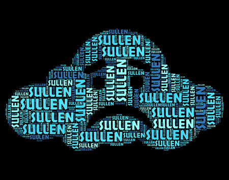 surly: Sullen Word Indicating Bad Tempered And Wordclouds
