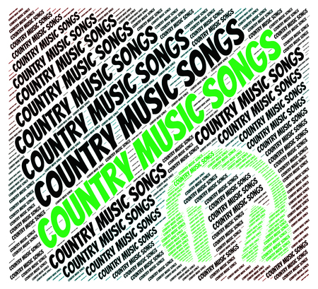 country music: Country Music Songs Zeige Tonspuren und singt