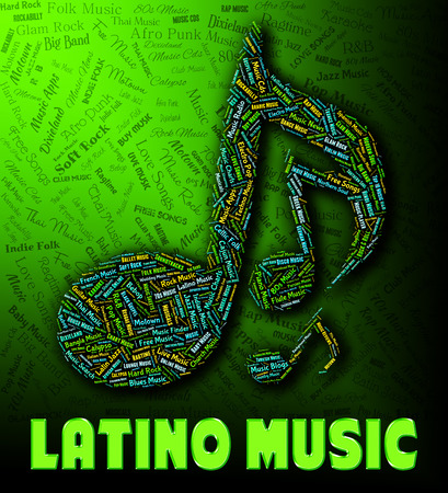 melodies: Latino Music Showing Sound Tracks And Harmonies