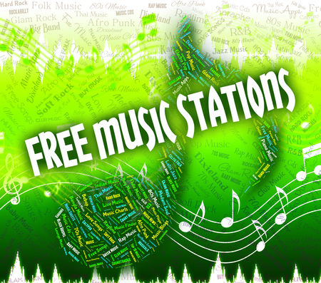 freebie: Free Music Stations Showing Sound Tracks And Radios Stock Photo