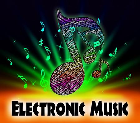 electronica musica: Música electrónica Indicando Hammond Organ Y Tunes