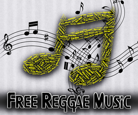 gratis: Free Reggae Music Meaning For Nothing And Gratis Stock Photo