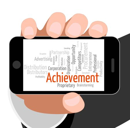 achieving: Achievement Word Indicating Achieving Wordclouds And Success
