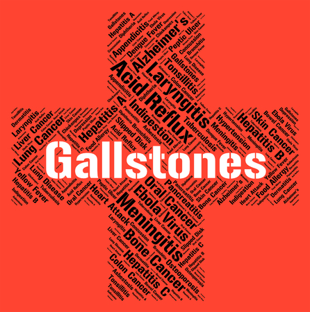 affliction: Gallstones Word Meaning Ill Health And Affliction Stock Photo
