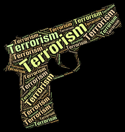 insurrection: Terrorism Word Indicating Freedom Fighter And Terrorist Stock Photo