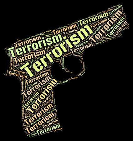 subversive: Terrorism Word Indicating Freedom Fighter And Terrorist Stock Photo